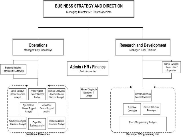 Organogram of the company