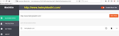 Cara memblokir dari website2