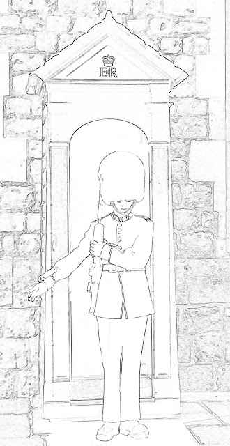 buckingham palace guard sketch