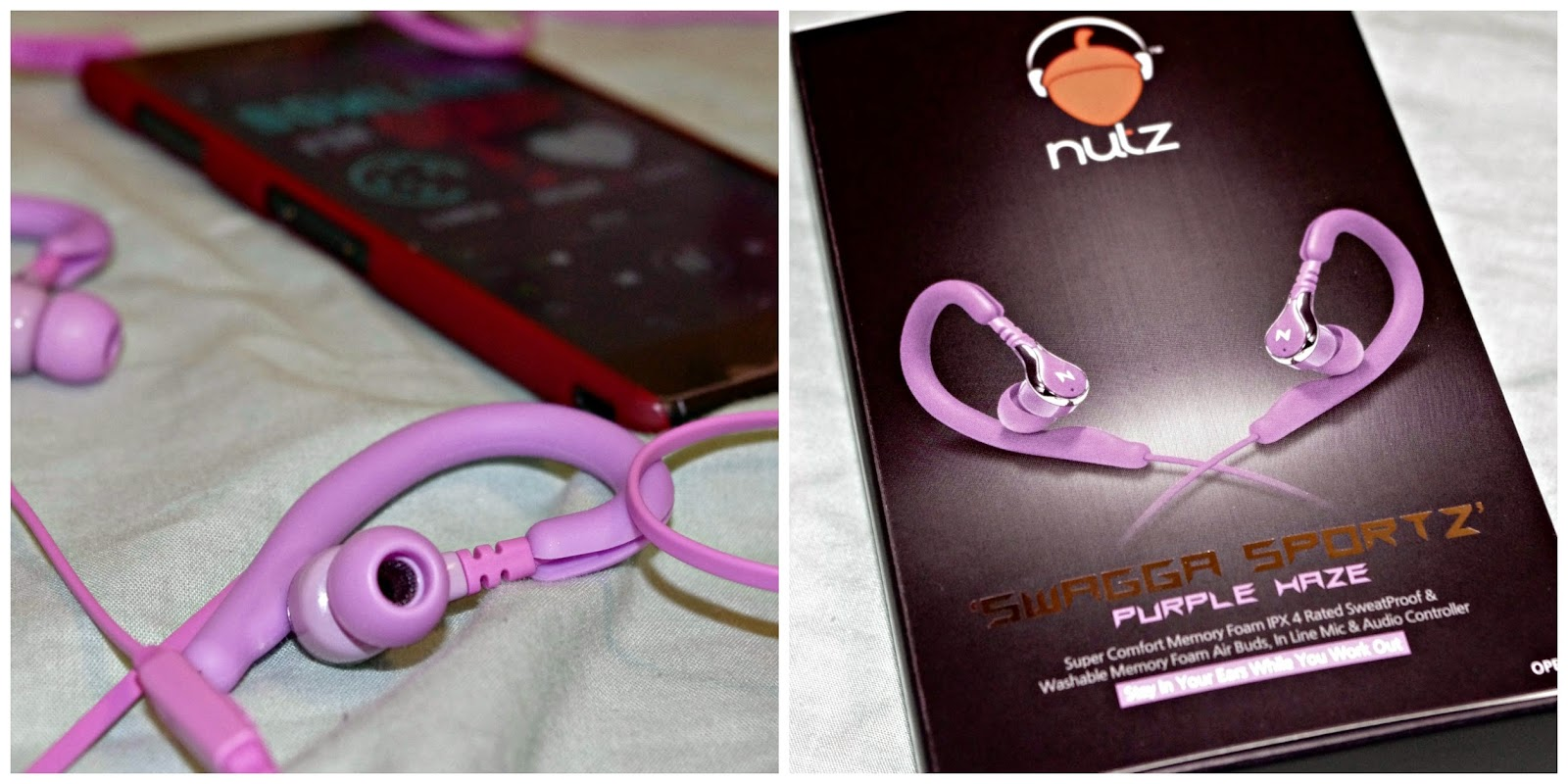 Purple Earbud Headphones