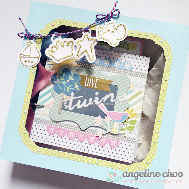 ScrappyScrappy: Twins Baby Album + Box #scrappyscrappy #svgattic #baby #minialbum #giftbox