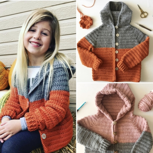 Crochet Color Block Sweater - Free Pattern