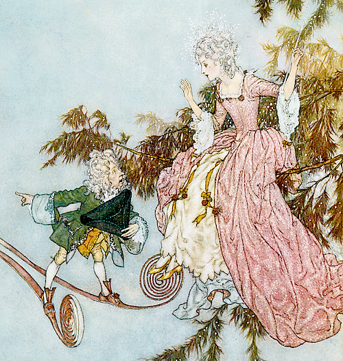 Illustration by Edmund Dulac for Sleeping Beauty, 1910