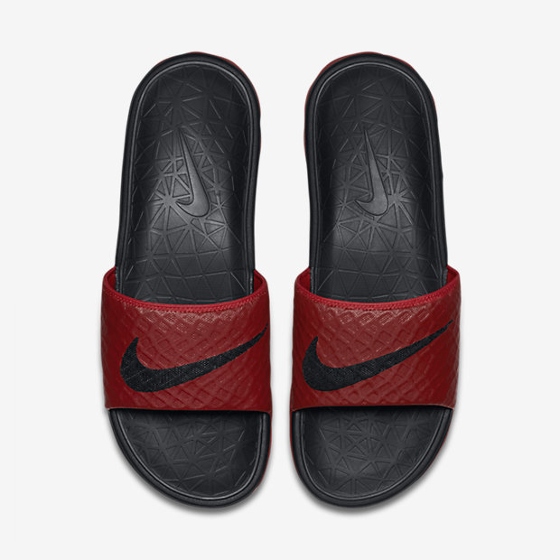 f473133c8343 NIKE BENASSI SOLARSOFT 2 UNIVERSITY RED BLACK - A4