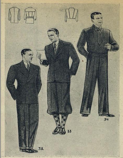 Мужской костюм в стиле ретро