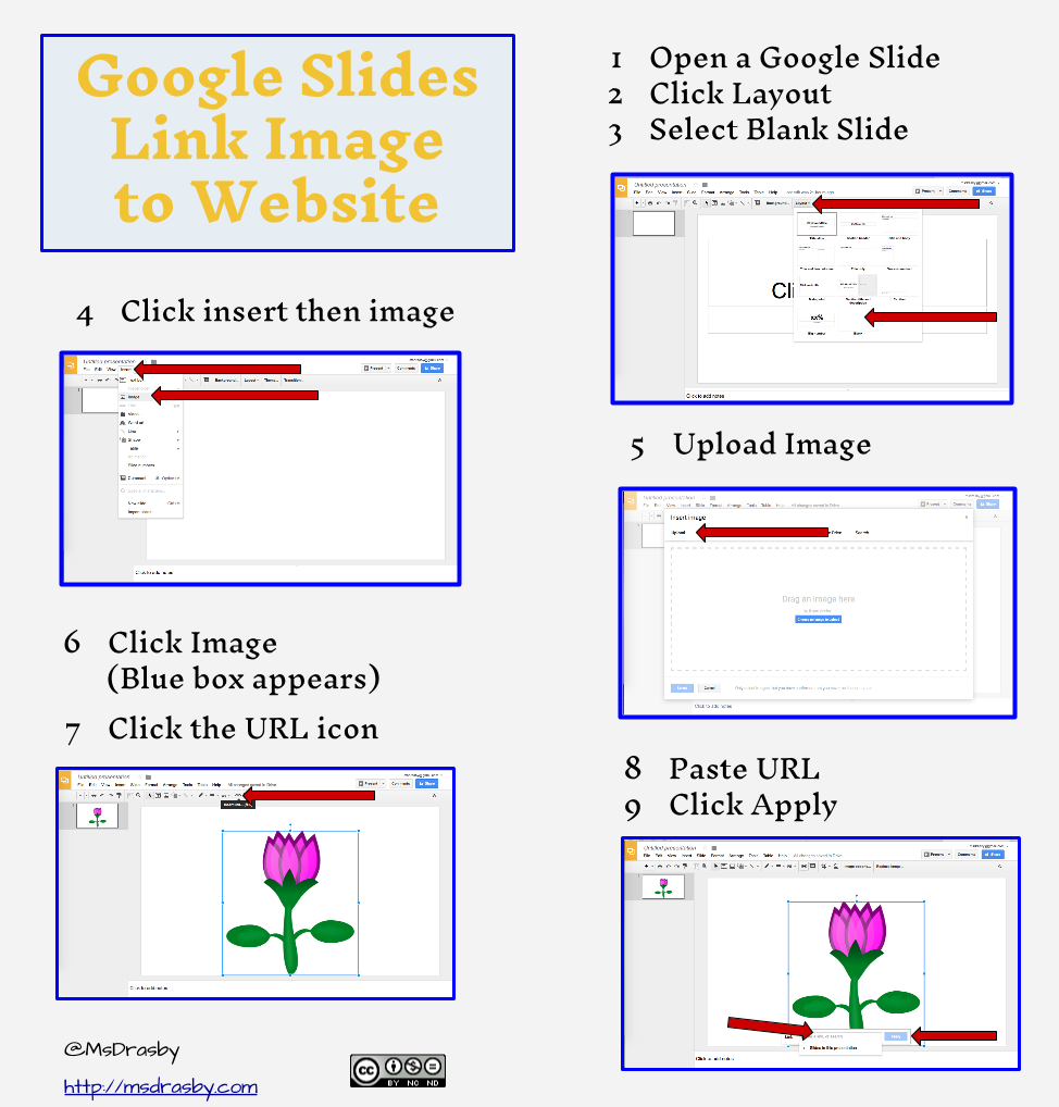 how to add link in google slides