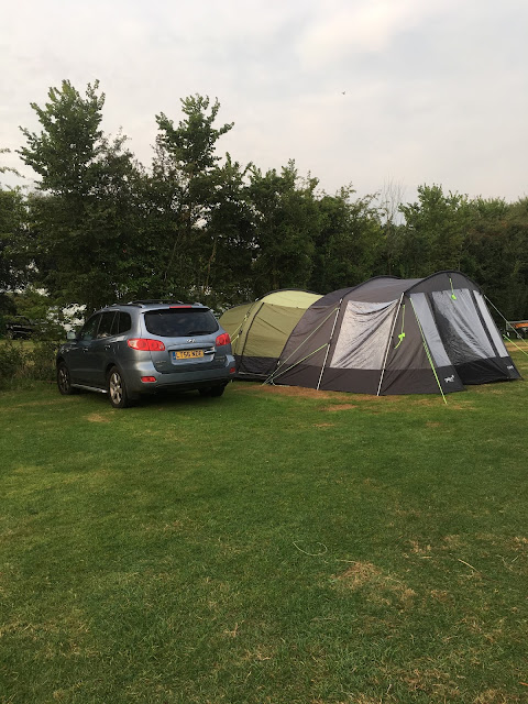 tent with porch extension