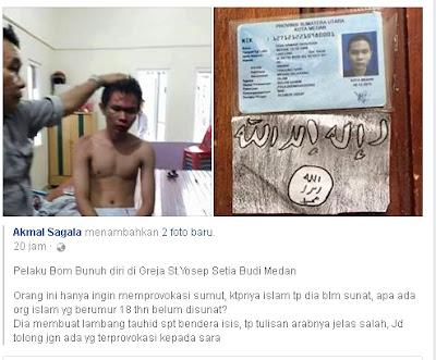 Ternyata Pengebom Gereja Santo Yosep Medan Belum Di sunat padahal Sudah 18 Tahun Apa Benar Dia Islam Asli ? - Commando