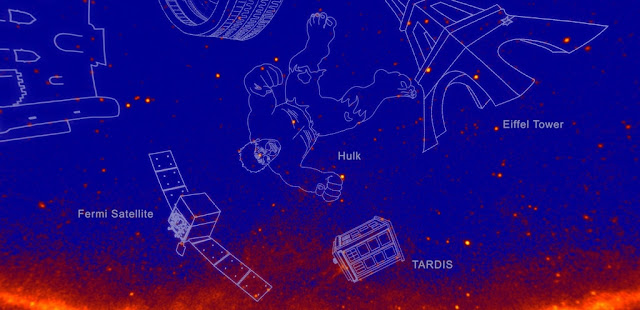 fermi energizes the sky with gamma ray constellations