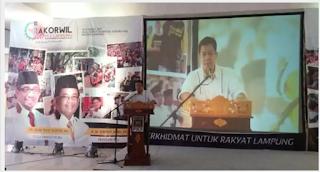 Gufron Aziz Buka Rakorwil PKS Lampung
