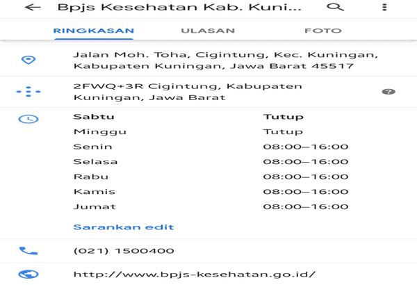 Daftar bpjs di kuningan
