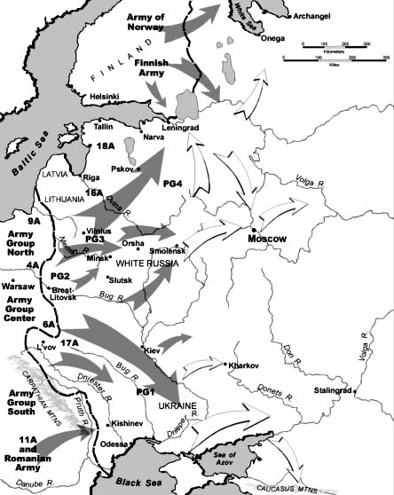 Operation Barbarossa map 23 June 1941 worldwartwo.filminspector.com