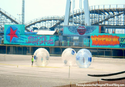 Inflatable Balls on the Beach in Wildwood New Jersey