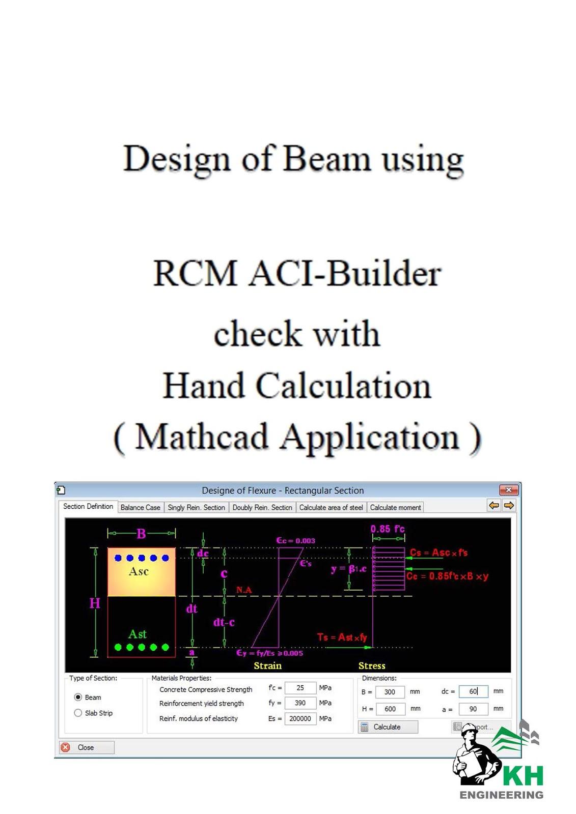 Design of Beam using RCM ACI-Builder - KH Engineering