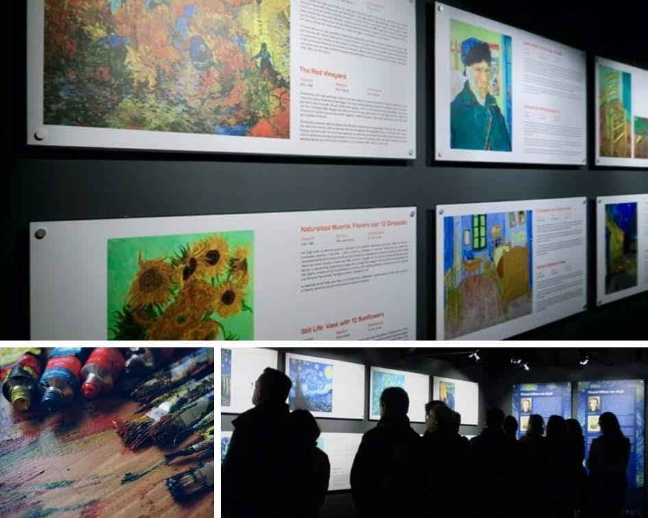 Van Gogh Alive Madrid マドリードのゴッホ展の生涯と絵画についての展示説明