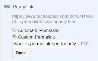 What is Permalink? SEO Friendly Permalink for Blogspot Blog