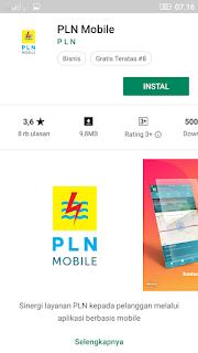 Instal aplikasi PLN Mobile ke hape android