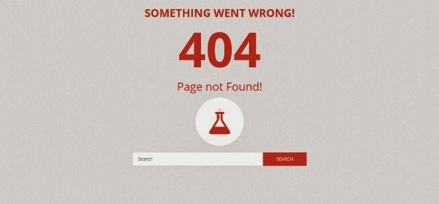 Chemico - Responsive Animated 404 Error Template