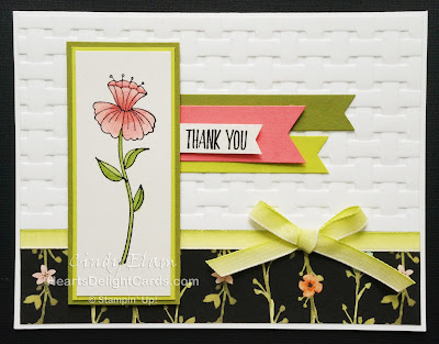 Heart's Delight Cards, Flirty Flowers, All Things Thanks, Thank You, Stampin' Up!