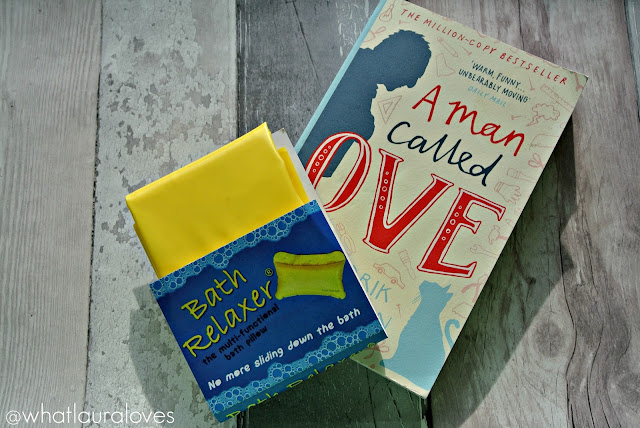 The Bath Relaxer pillow and A Man Called Ove book