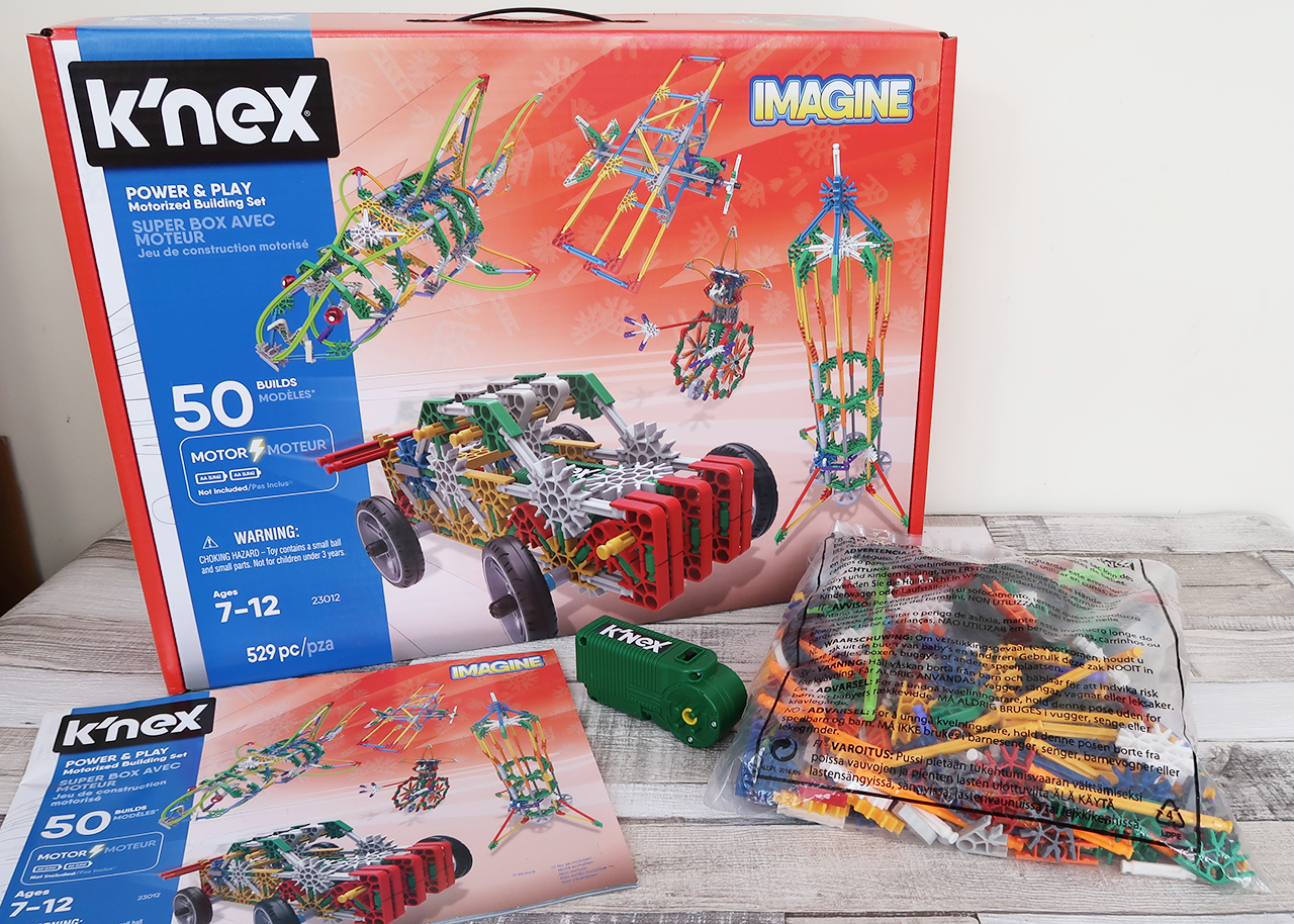 23012 Power And Play/' 50 Model Motorised Building Set K/'nex /'Imagine