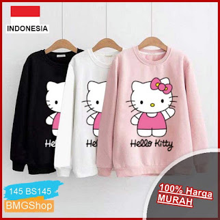 BS145 Sweater Lengan Panjang Kitty Bye BMGShop