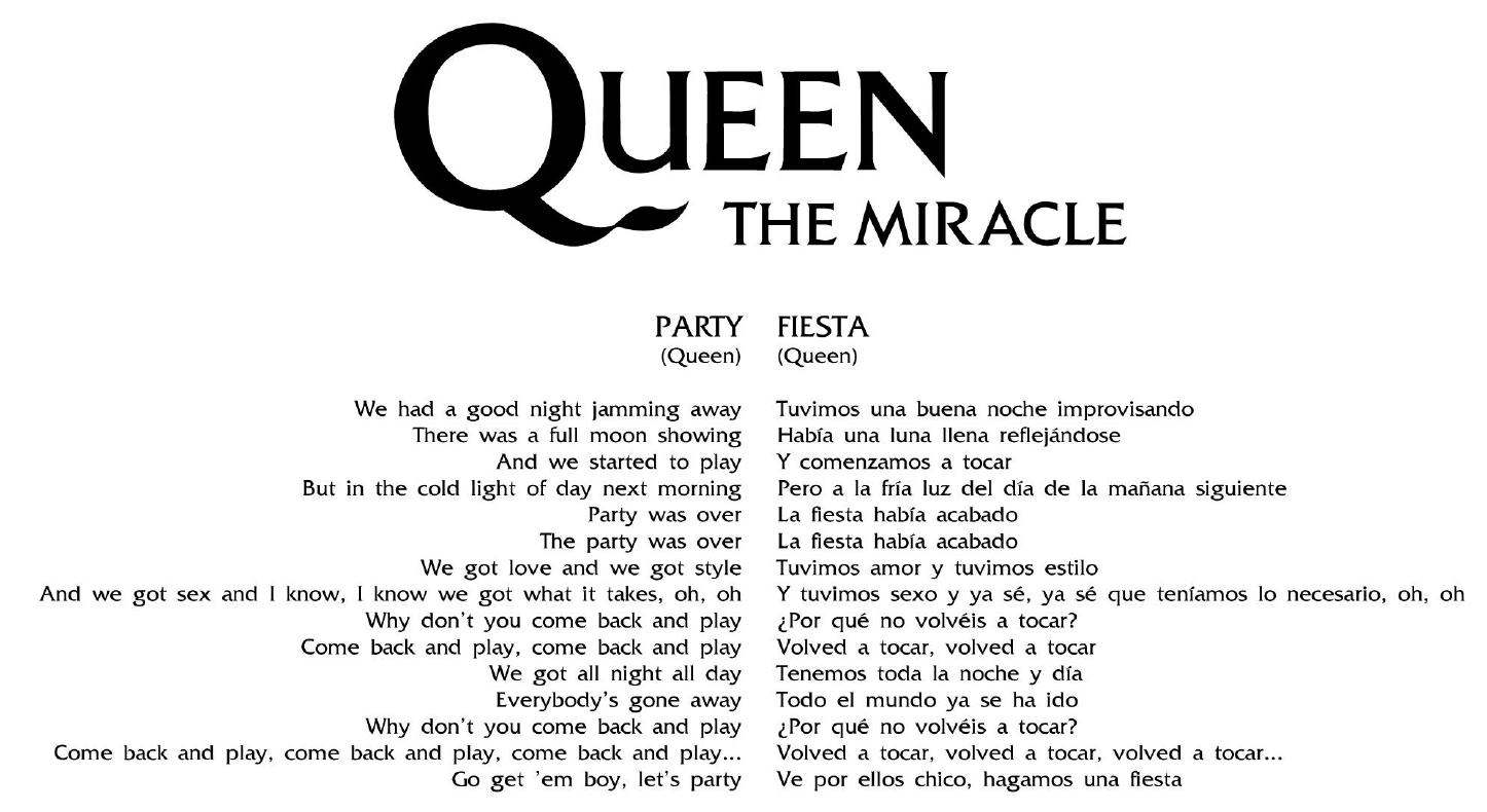 Letras traducidas - The Miracle
