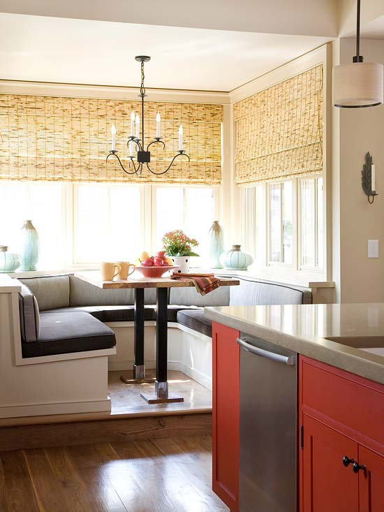 Celebrity Homes Interior Breakfast Room Banquettes