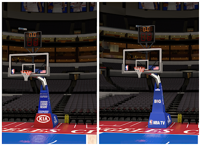 NBA 2K14 Staples Center Real Backboard Mod