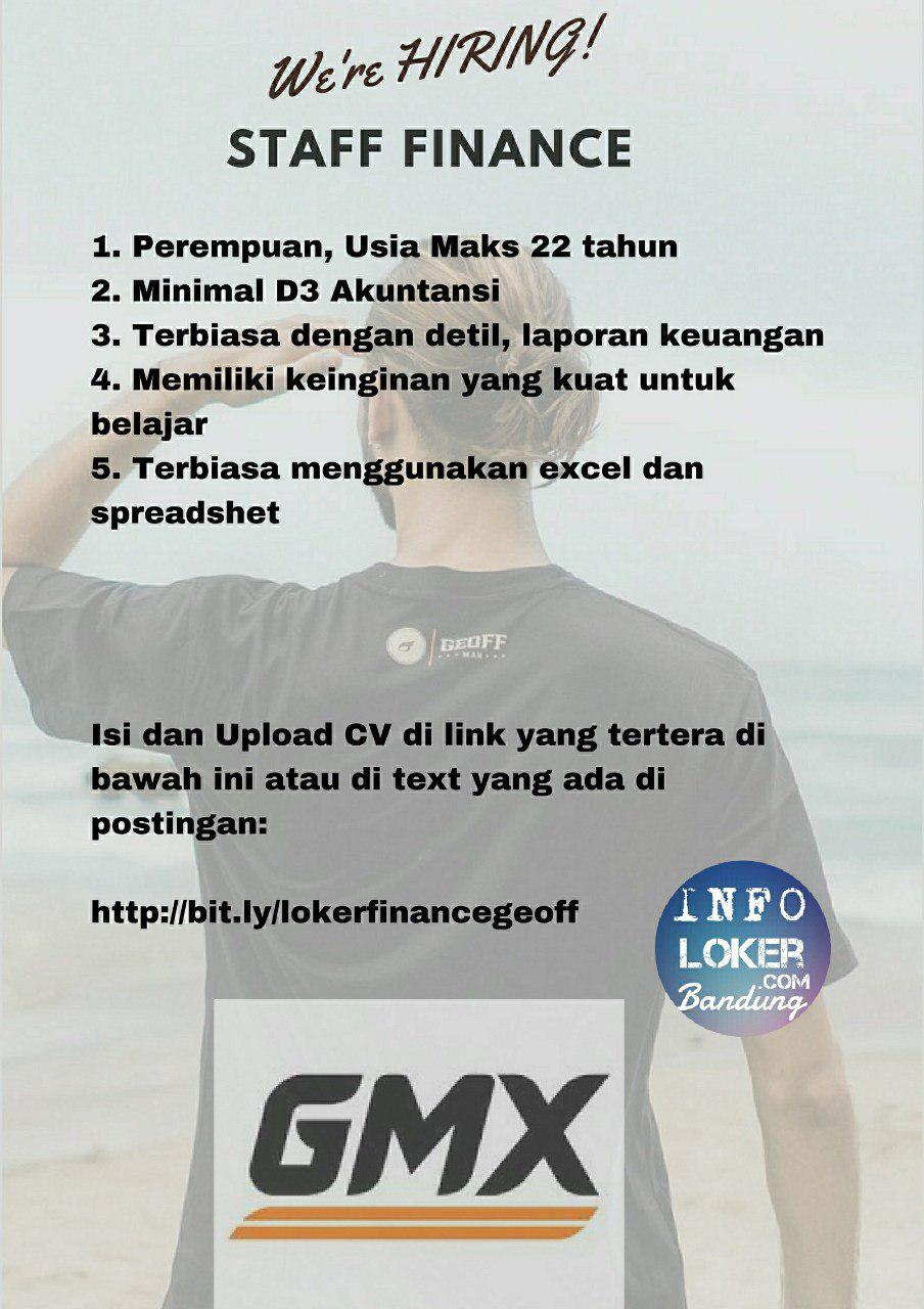 Lowongan Kerja Geoffmax Footwear Bandung Agustus 2018