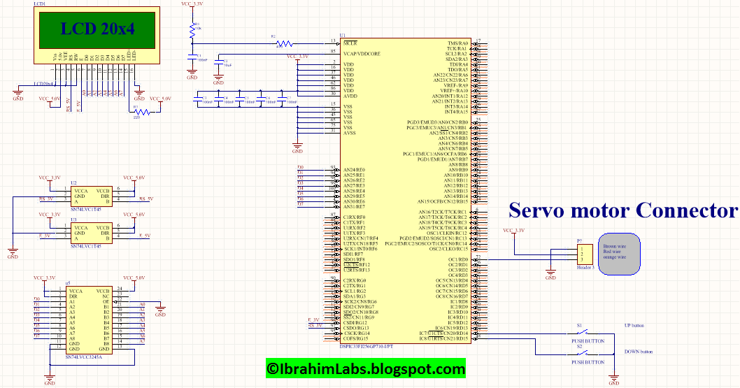 How to interface Servo motor with PIC (Code + Schematic) | IbrahimLabs