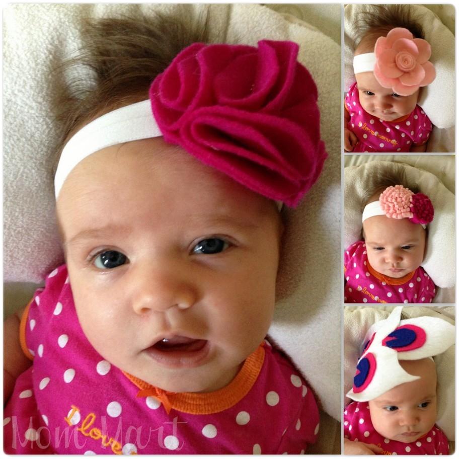 Mom Mart Diy Felt Flower Baby Headbands Tutorial