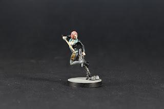 Photo de la Figurine de  Miranda Ashcroft du jeu Corvus belli Infinity.