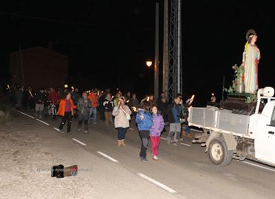 Procesión de Santa Bárbara 2015 en Barruelo de Santullán