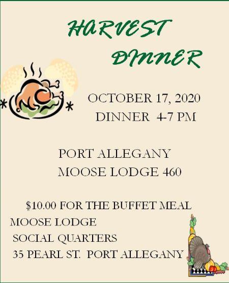 10-17 Harvest Dinner At The Port Allegany Moose