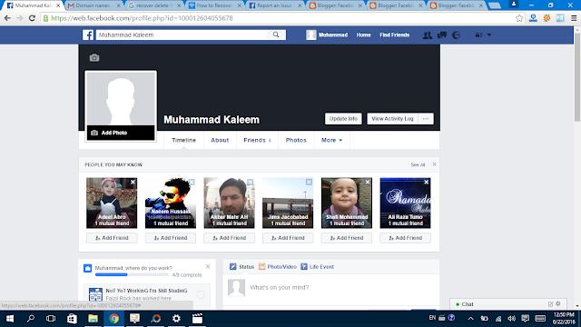 Facebook Profile  Picture  Click profile pic- Facebbok