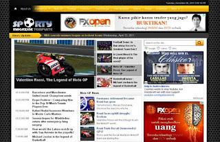 Sporty Magazine 2 Blogger Template