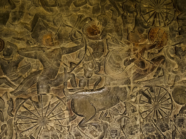 Art panels at Angkor Wat