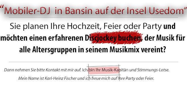 DJ Bansin - Insel Usedom, DJ Fischer Spezial