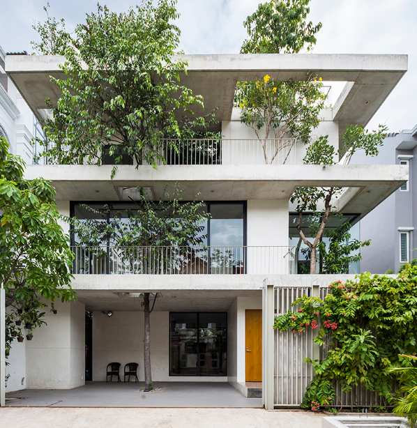 The residential project incorporates green space as part of its design
