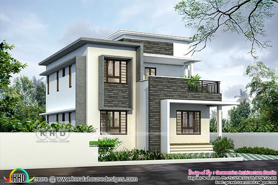 1346 square feet modern house plan