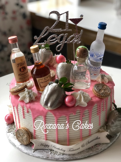 Magnificent Baking With Roxanas Cakes Liquor Birthday Cake 21 Legal Funny Birthday Cards Online Alyptdamsfinfo