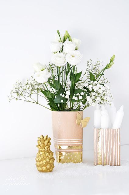 Upcycling Vase aus Tetrapack