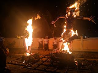 Umat Hindu Lakukan Upacara Pengusiran Roh Jahat