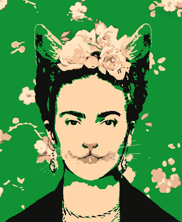 The Cat Ladies Frida Kahlo as a Cat