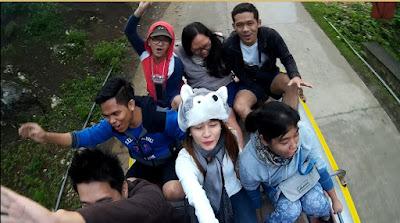 people riding on top of a jeepney, sagada topload, ph destination, ph adventure, little pinay explorer