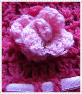 free crochet rose motif