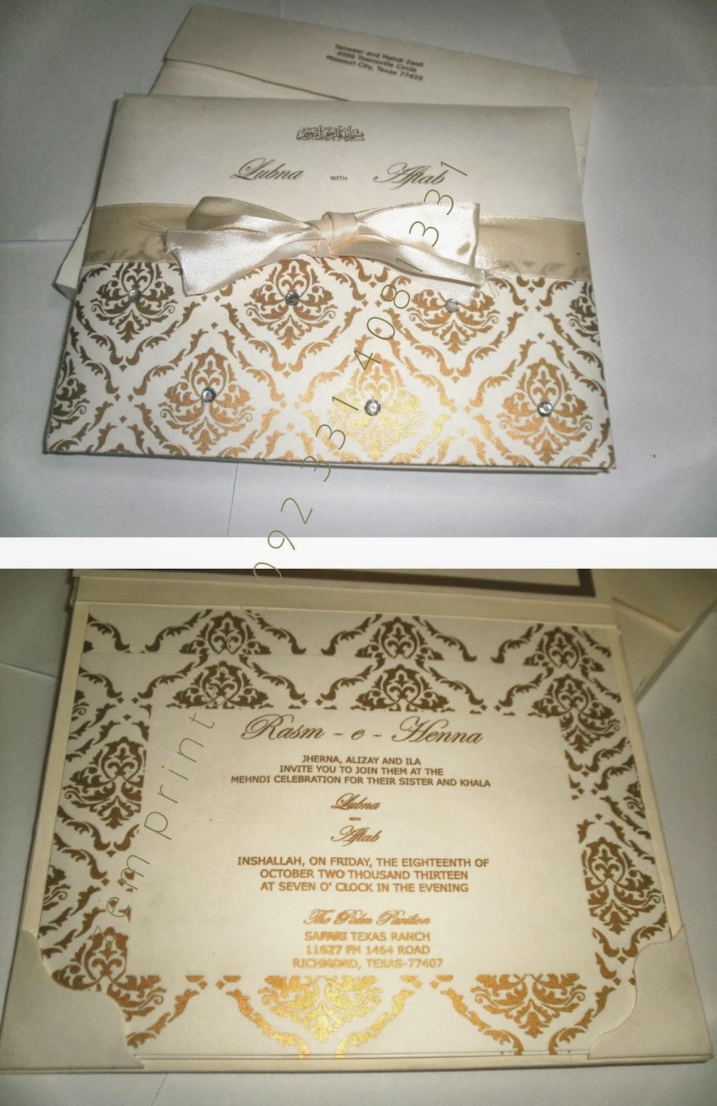 Zem Printers: Wedding Invitations