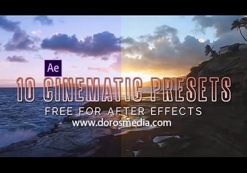 اضافات افتر افكت بريسيت أنماط لونية سينمائية حديثة وجديدة للافترافكت Cinematic Color Presets adobe after effects