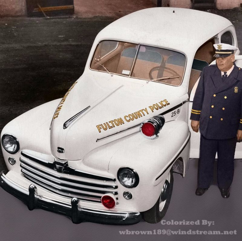 Columbus Ohio Used Cars: 18 Incredible Colorized Photos Of American Police Cars